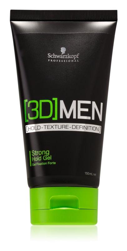 Schwarzkopf Professional [3D] MEN Hair Styling Gel Strong Firming